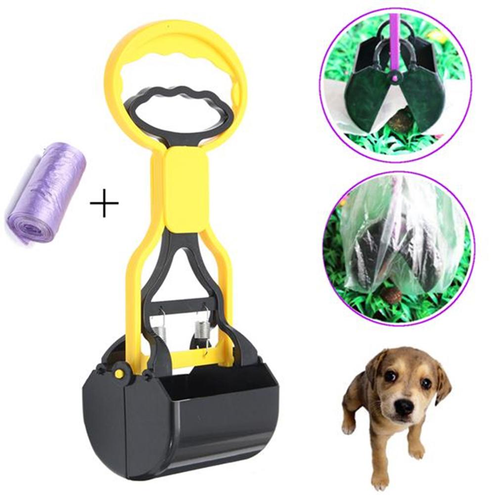 Durable Pet Dog Poop Scooper Pickup Clip Yard Cleaning Shovel Tool
