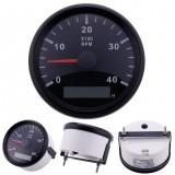 Marine RPM Tachometer Gauge WEMA LCD Tacho Hour Meter 12/24V 0-4000 RPM 85mm