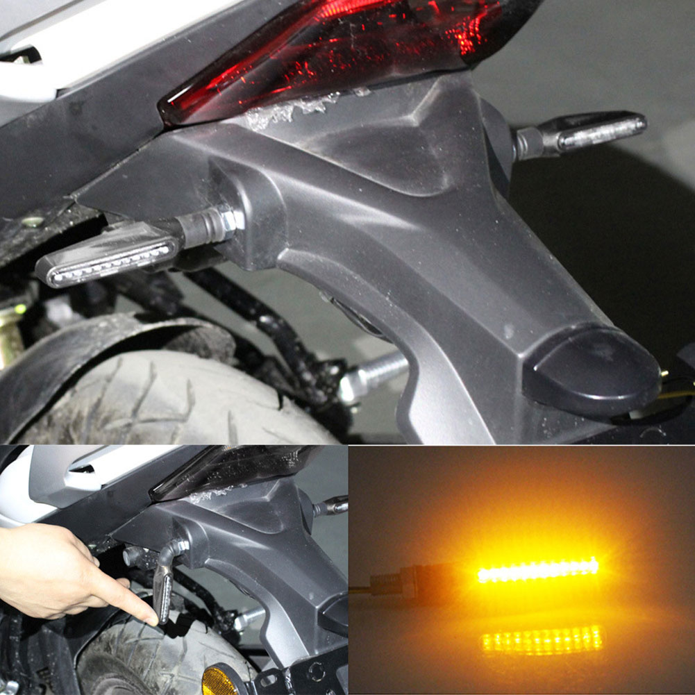 1Pcs Universal Flowing Motorcycle Motorbike LED Turn Signal Indicator Light Amber