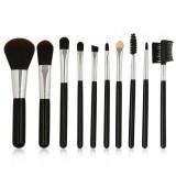 MAANGE 10Pcs Makeup Brushes Set Travel Kit Foundation Powder Eye Shadow Eyebrow Eyelash Eyeliner Lip Beatuy Tool
