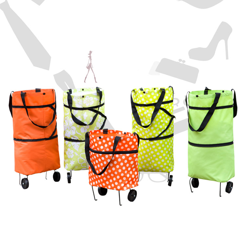 Folding Foldable Shopping Trolley Bag Cart Grocery Handbag Tote Rolling Wheels