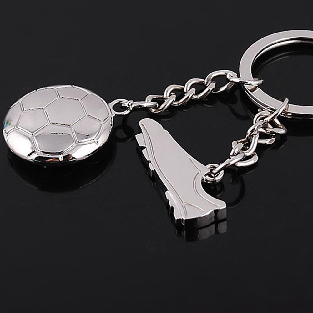 1pc Creative Football Sports Shoes Keyring Keychain Key Ring Keyfob