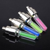 1Pcs Neon LED Flash Light Lamp Bike Car Tire Tyre Wheel Valve Sealing Caps