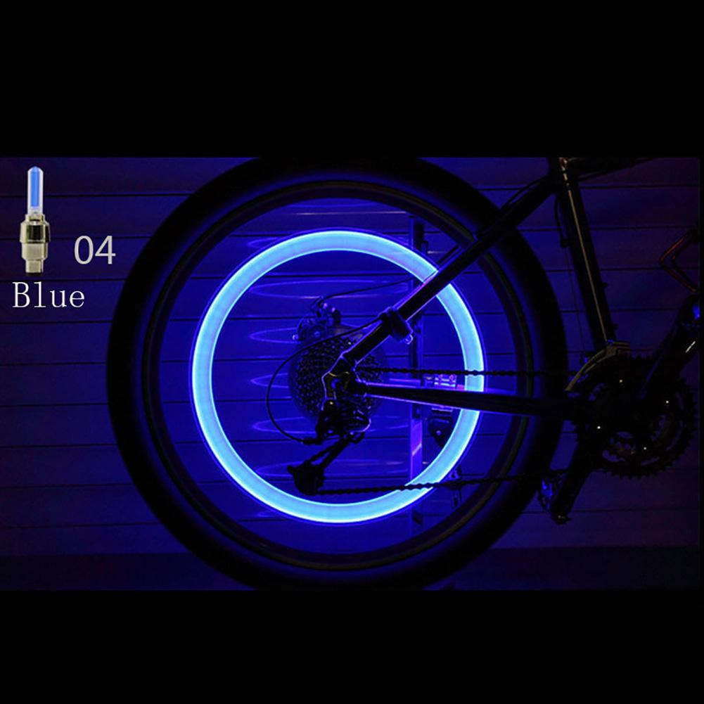 1Pcs Neon LED Flash Light Lamp Bike Car Tire Tyre Wheel Valve Sealing Caps