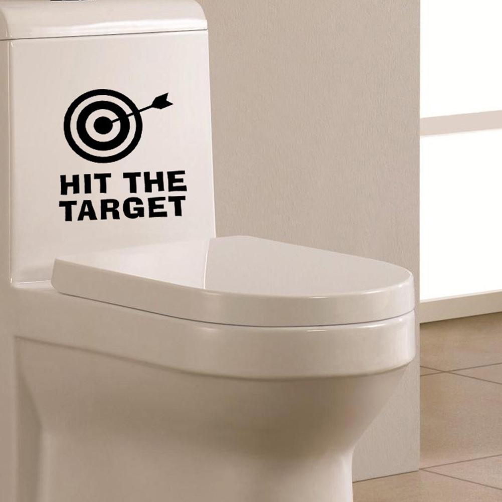Hit The Target Toilet Seat Wall Sticker Vinyl Art Bathroom Decals Decor