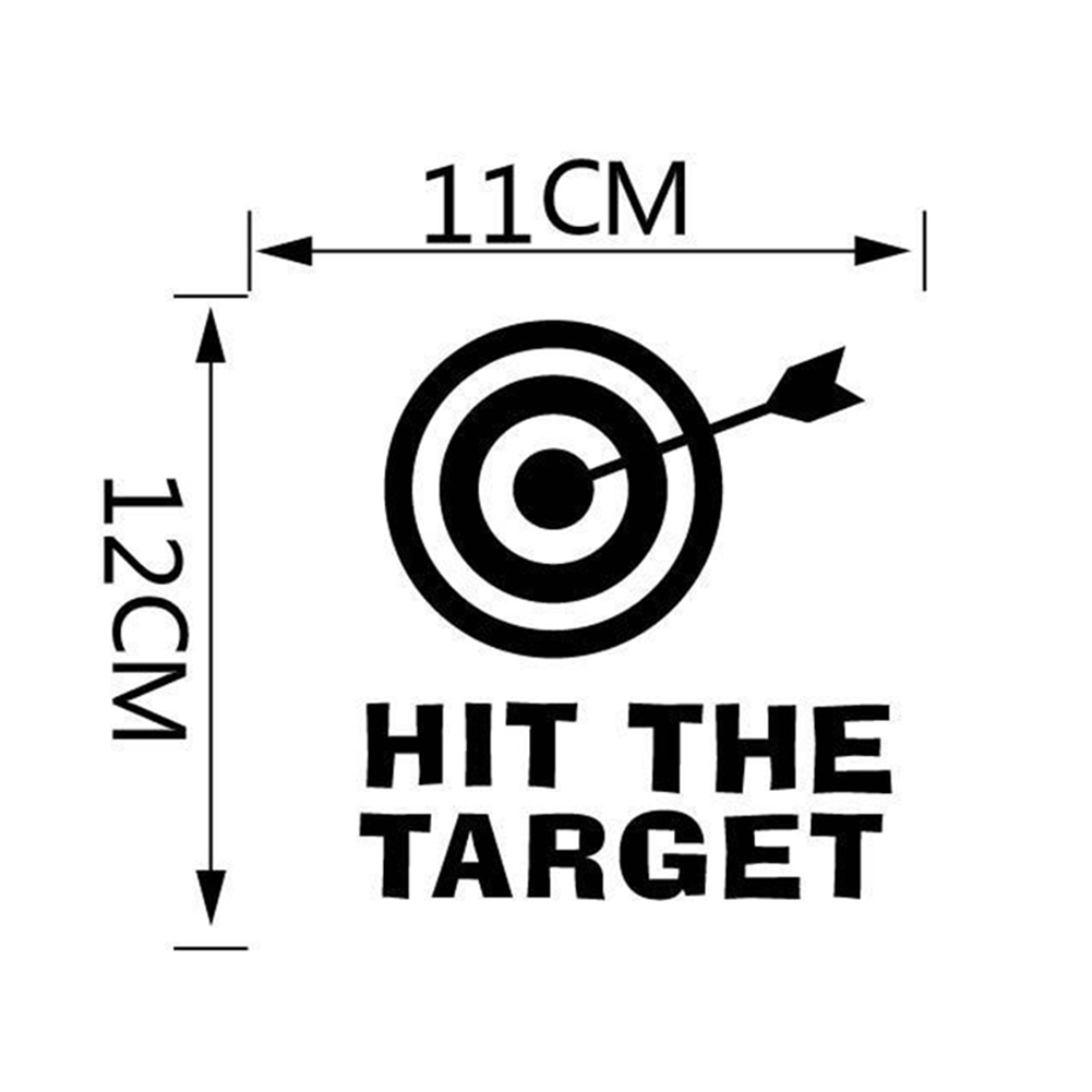 Hit The Target Toilet Seat Wall Sticker Vinyl Art Bathroom Decals Decor