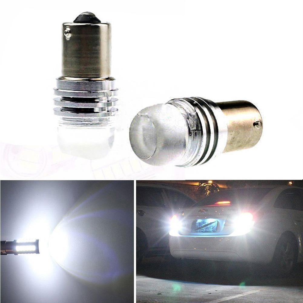 2*1156 BA15S P21W DC 12V Q5 LED Auto Car Reverse Light Lamp Cob Bulb White Light