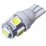 1Pcs Super White T10 Wedge 5-SMD 5050 LED Light bulbs W5W 2825 158 192 168 194