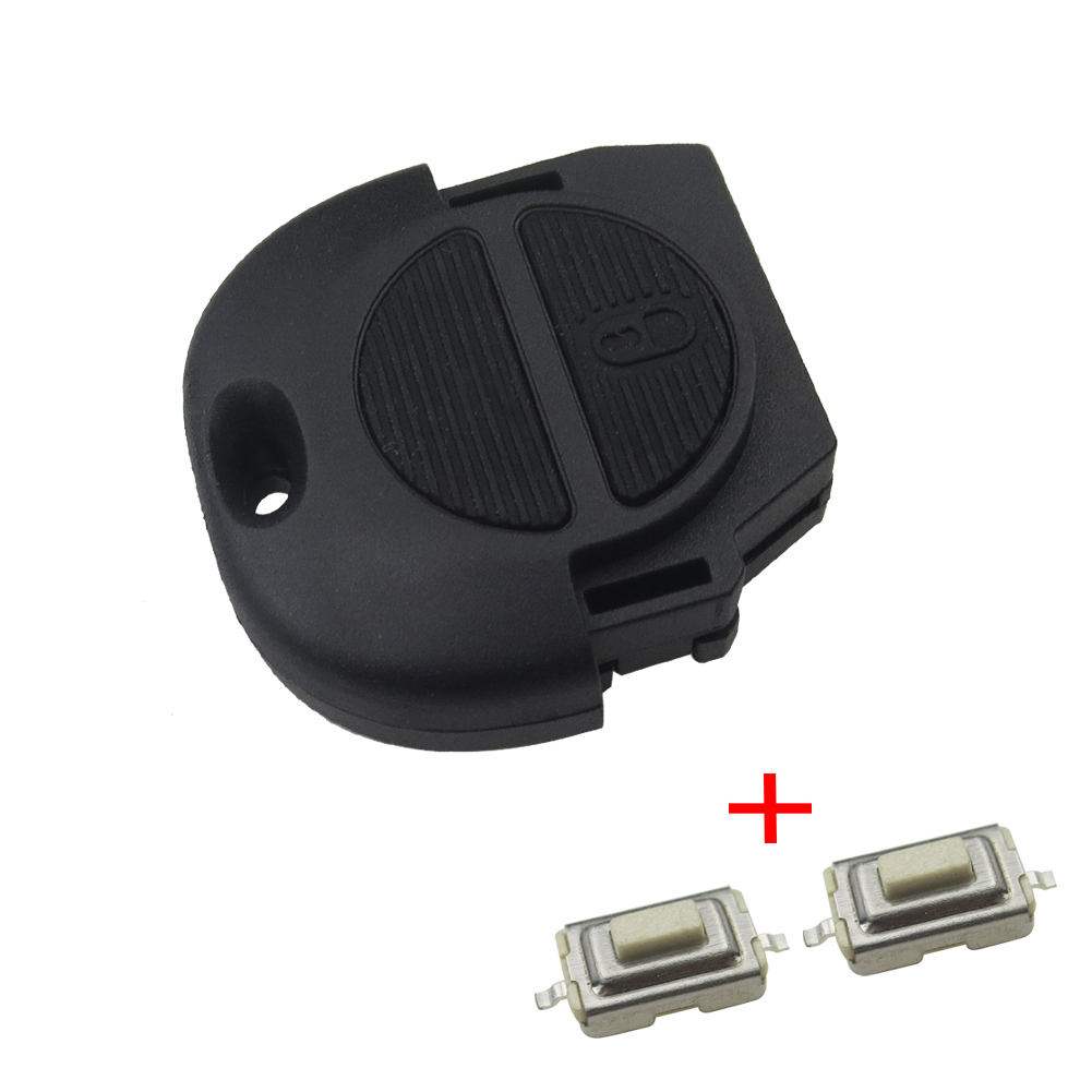 Replacement Remote Fob Key Shell for Nissan Micra Almera Primera X-Trail 2 Buttons Car Key Case Cover No Blade