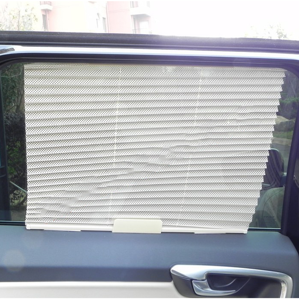 1 Piece 3 Sun Shield Car Auto Retractable Side Window Curtain Shade Sunshade Mesh
