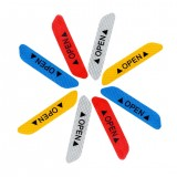 4Pcs Universal Safety Reflective Tape Open Sign Warning Mark Car Door Stickers