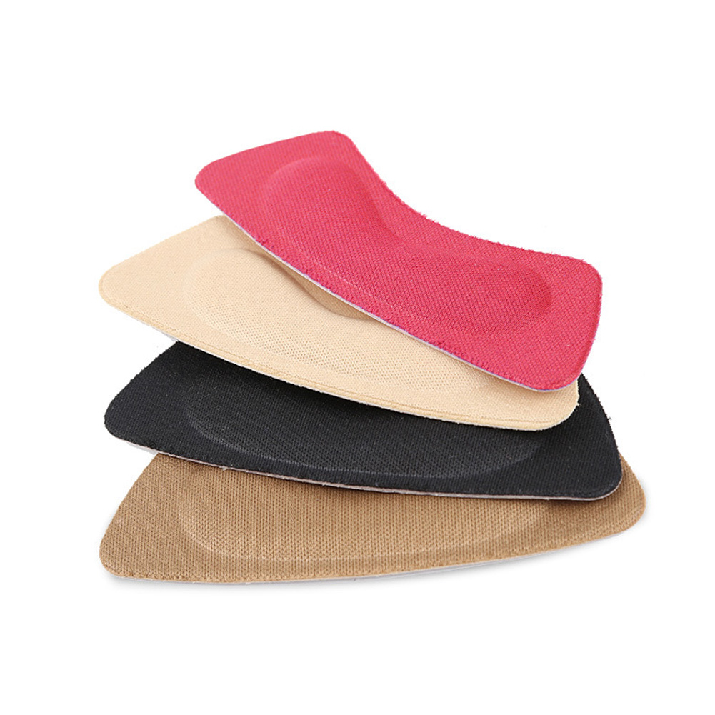 8 Pairs Heel Cushion Pads Heel Shoe Grips Liner Self-adhesive Shoe Insoles Foot Care Protector (Multicolor)