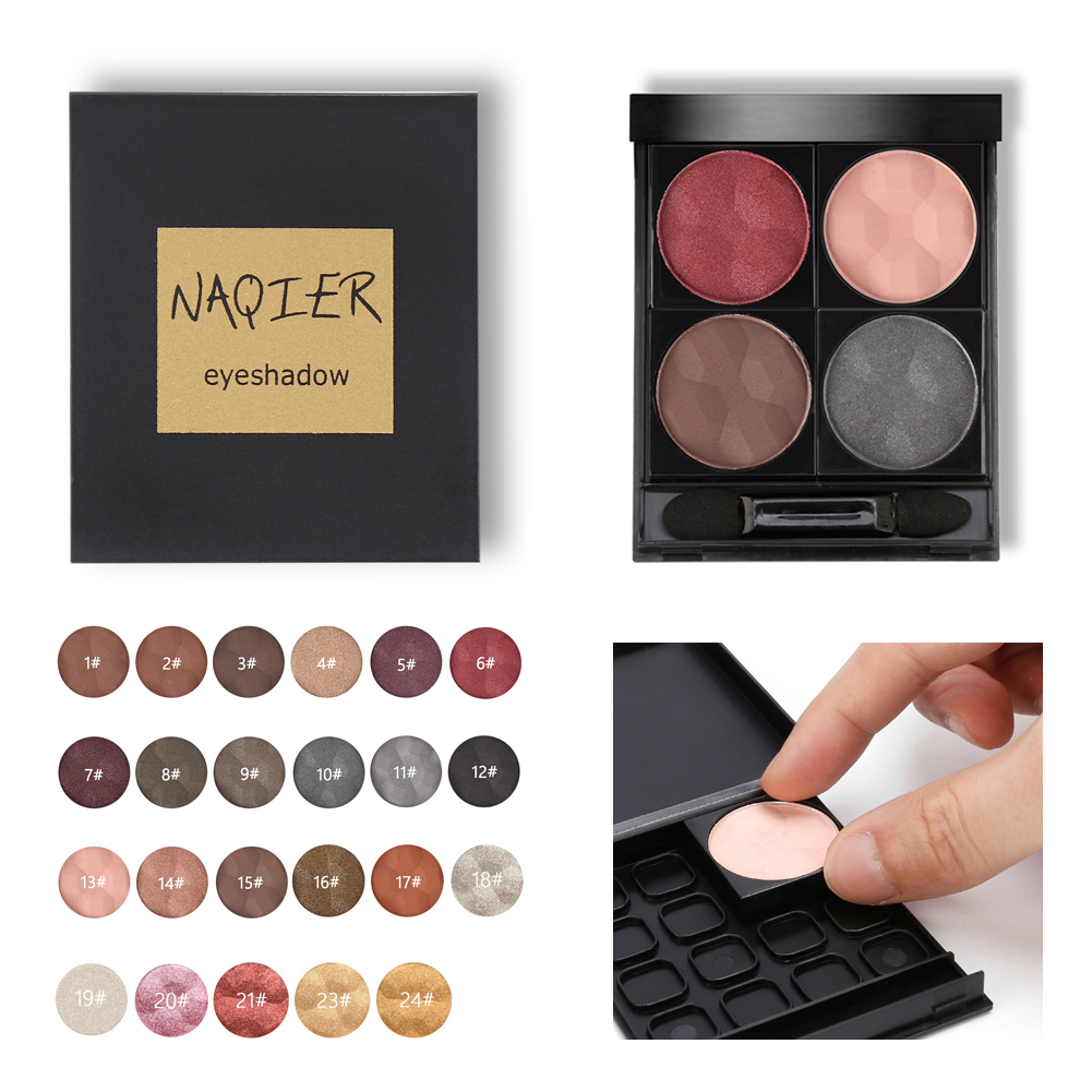 24 Color Lash Glitter Highlight Eyeshadow Diamond Lip Powder Matte Smoked Glitter Nude Eye Shadow Press Palette DIY Makeup