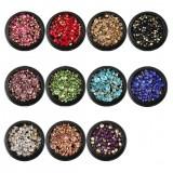 Nail Art 3D Tips Mixed Crystal Beads Gem Charm Decorations Box Rhinestones Glitter Manicure Decor