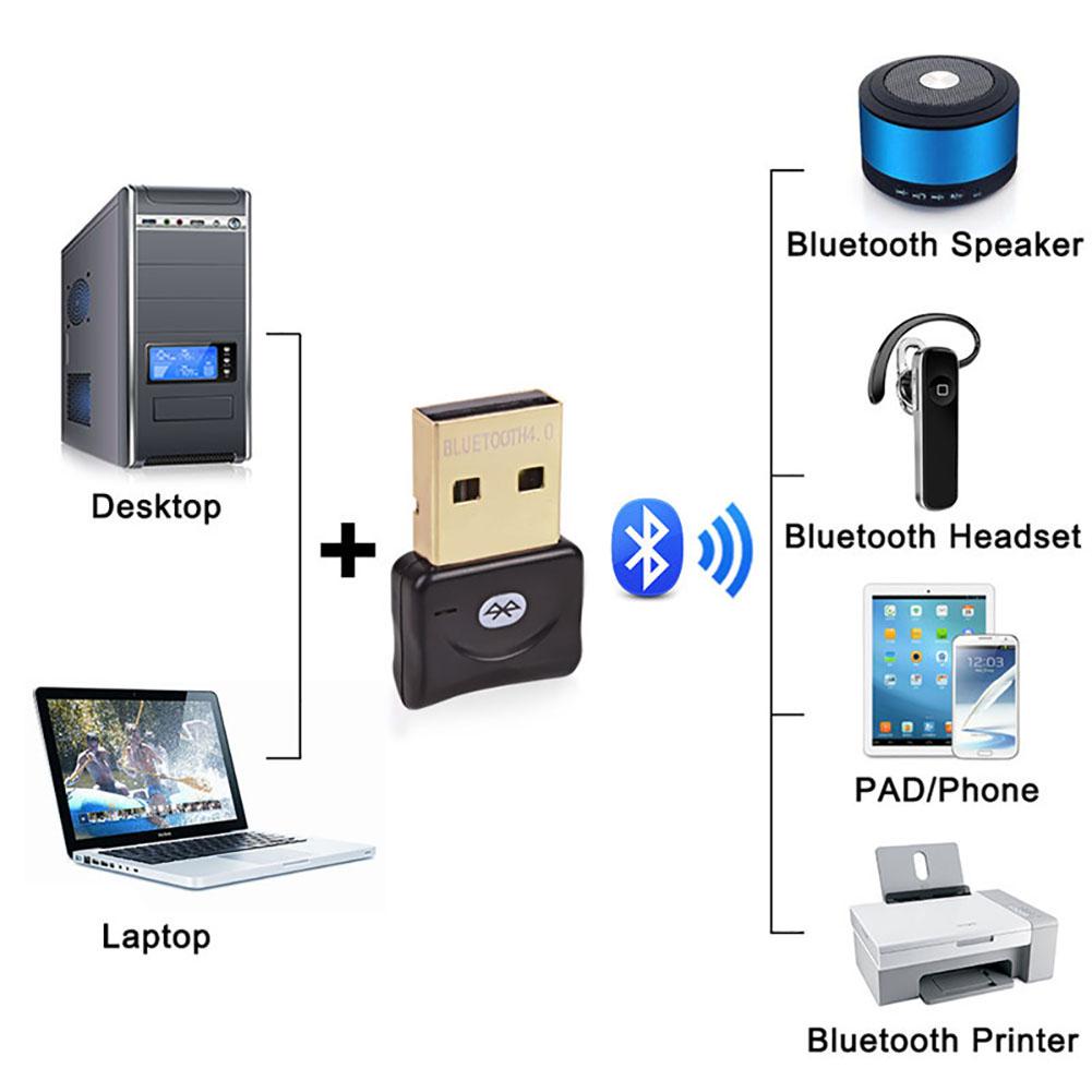 Gold Mini USB CSR Bluetooth 4.0 Dongle Adapter PC Laptop Windows XP VISTA 7 8 10