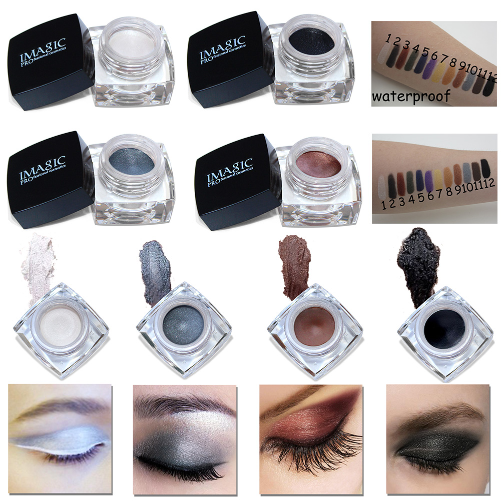IMAGIC 12 Color Eyeliner Gel Makeup Waterproof Cream Cosmetic Eye Liner Gel Long Lasting Women Beauty Long Lasting