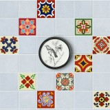 20 Pcs Ceramic Tile Stickers Self Adhesive 3D DIY Wall Stickers Home Decor 15X15cm