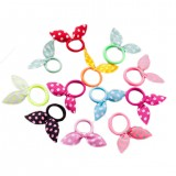 Children's Hair Ring Korean Style Bow Hair Ring Rabbit Ears Hair Band Rope Hair Accessories