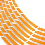 16Pcs Motorcycle Car Wheel Rim 16 Reflective Strips 18″ Stripe Tape Decal Stickers
