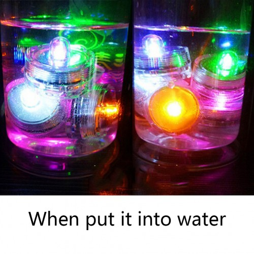 Waterproof Electronic Candle Lamp Floating LED Disco Light Glow Show Swimming Pool Light Bar Party Wedding Decorate