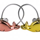 Sweet Kissing Whales Couple Keychain with Magnetism Women Men's Christmas Valentine's Day Gift Keychain for Lover