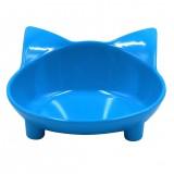Cat Bowls, Anti-slip Multi-purpose Pet Feeding Bowl Shallow Wide Flat Cat Food Water Bowls Dishes, Set of 3