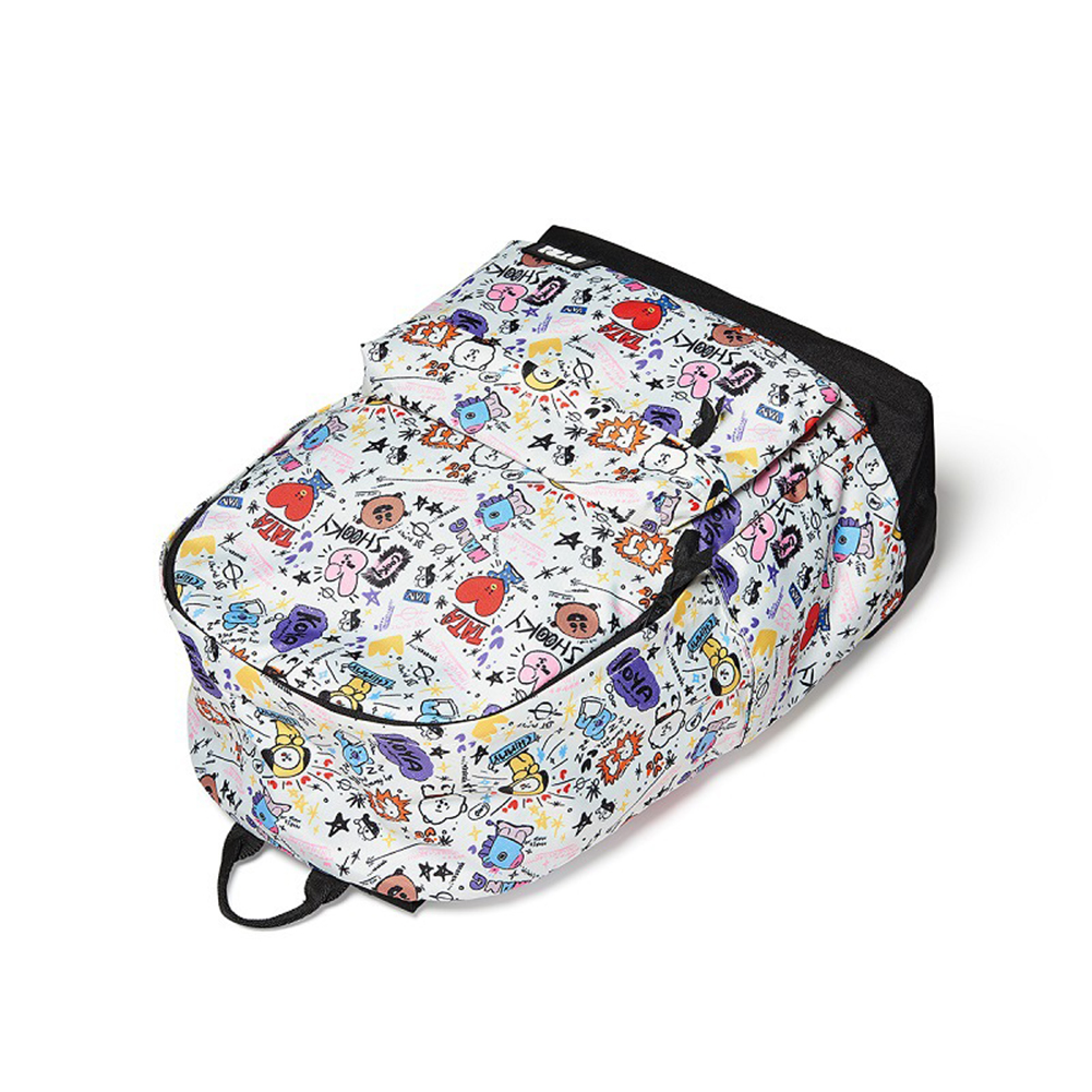KPOP BTS Lovely BT21 Pattern Bangtan Boys Backpack Colorful Cartoon Shoulder Bag