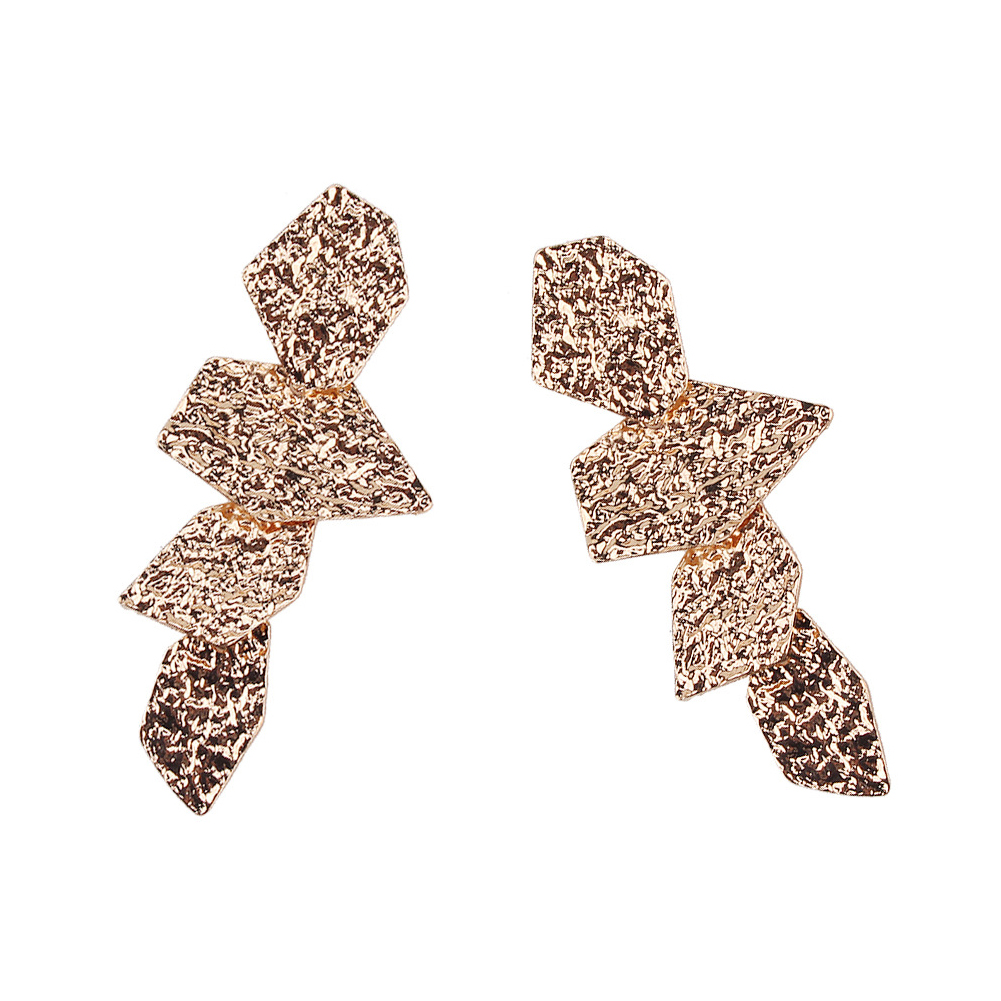 Fashion Female Jewelry Stoving varnish Irregular Leaves Earring Ear Stud Gold Silver Geometric Jewelry Gift For Women Girls