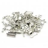 100pcs//lot Tibetan Silver Mix Charm Pendants Jewelry Craft Making DIY