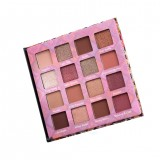 16 Color Eyeshadow Palette Shimmer Matte Glitter Makeup Palette Smoky Pigment Cosmetics Eye Palette Party Set