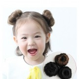 Children Claw Clip In Hair Bun Wave Curly Hair Piece Chignon Updo Cover Hair Extension