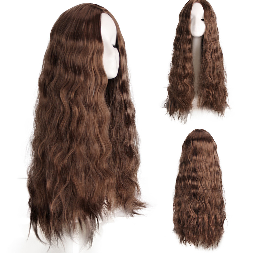 Fashion Women Wig Hair Medium Long Curly False Hair Heat Resistant Synthetic Hair