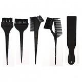 5pcs Big Black Hair Color Dye Comb Brushes Board Tool Kit Set Tint Coloring for DIY Salon