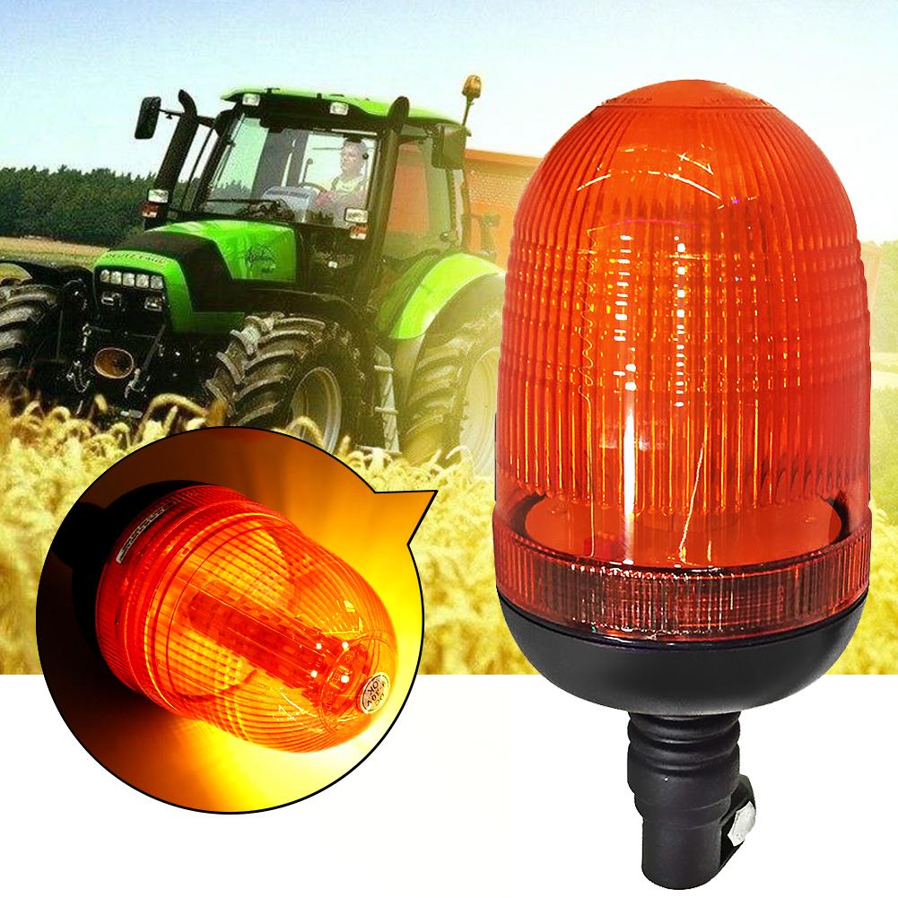 80LED Tractor Car Emergency Warning Flash Strobe Rotating Beacon Light Motor Amber