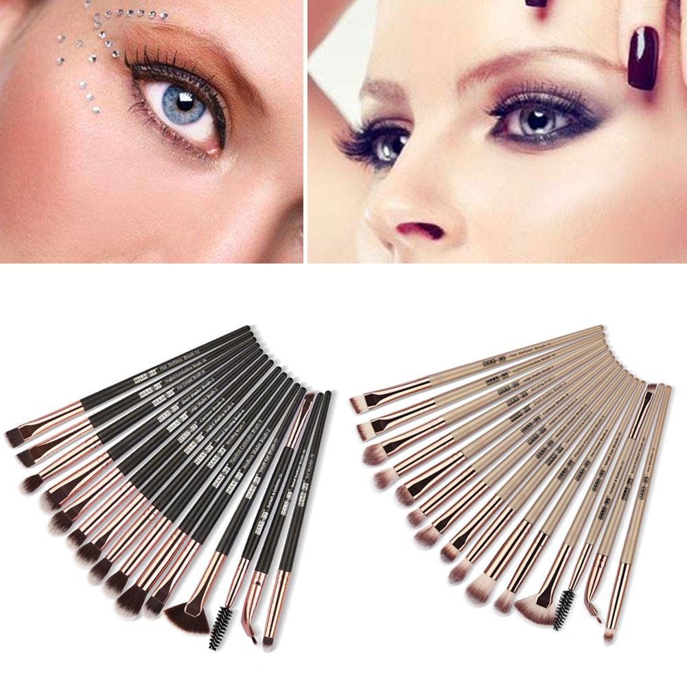 MAANGE 15pcs Eye Shadow Makeup Brushes Beauty Cosmetics Foundation Powder Blush Tools