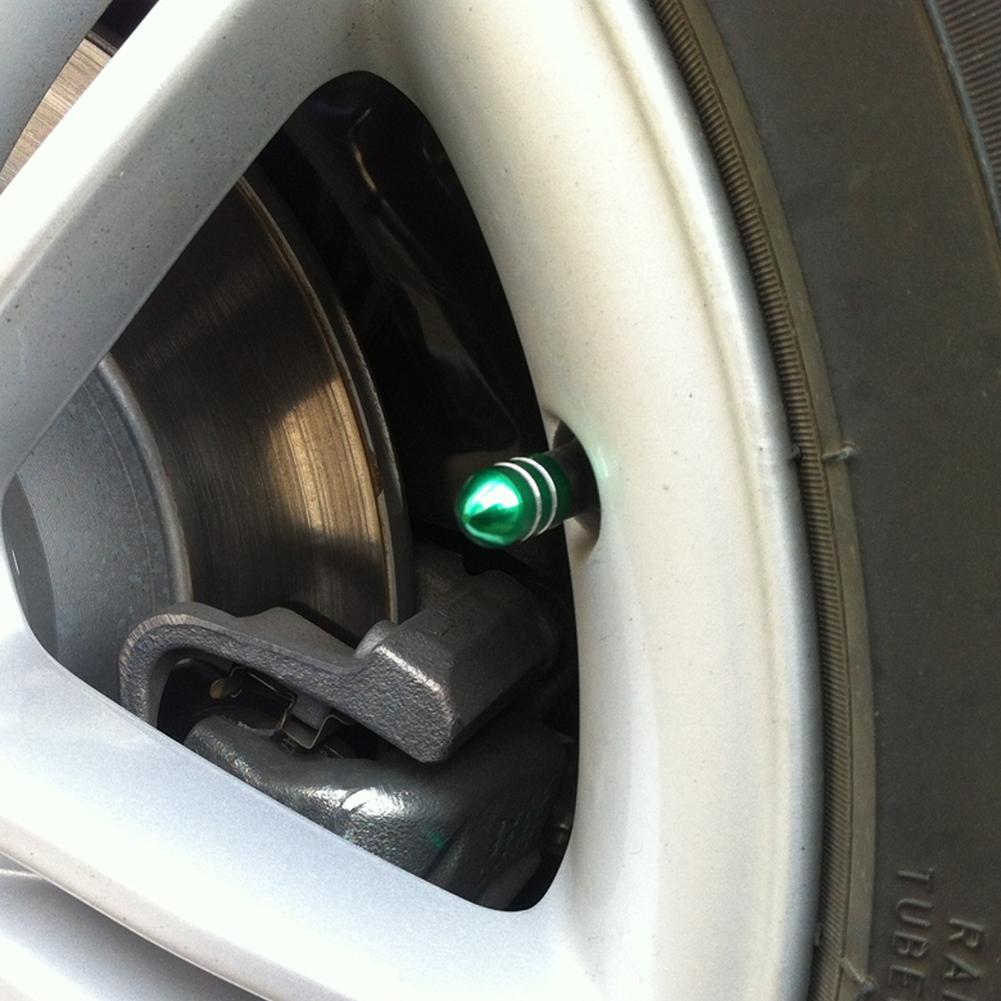 4PCS Black Aluminum Tire Wheel Rims Stem Air Valve Caps Tyre Cover Auto Car