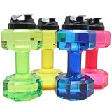 Dumbbell Shaped Water Bottle Big Capacity BPA Free Leak Proof 2.2L Kettle For Gym Training