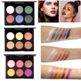 6 Colors Fashion Glittering Eyeshadow Palette Long Lasting Eye Beauty Makeup Cosmetic