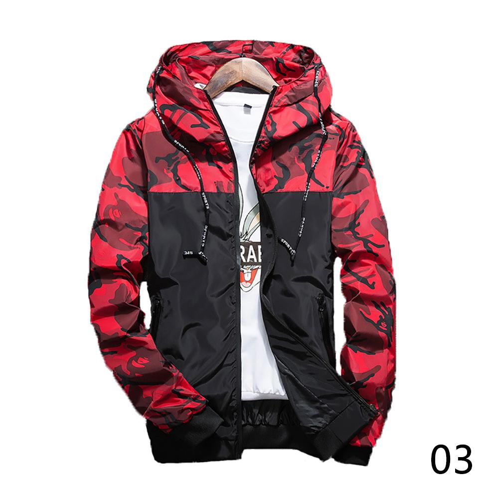 Men's Fashion Camouflage Coat Hoodies Casual Jacket Clothing Windbreaker Male Outwear M-5XL