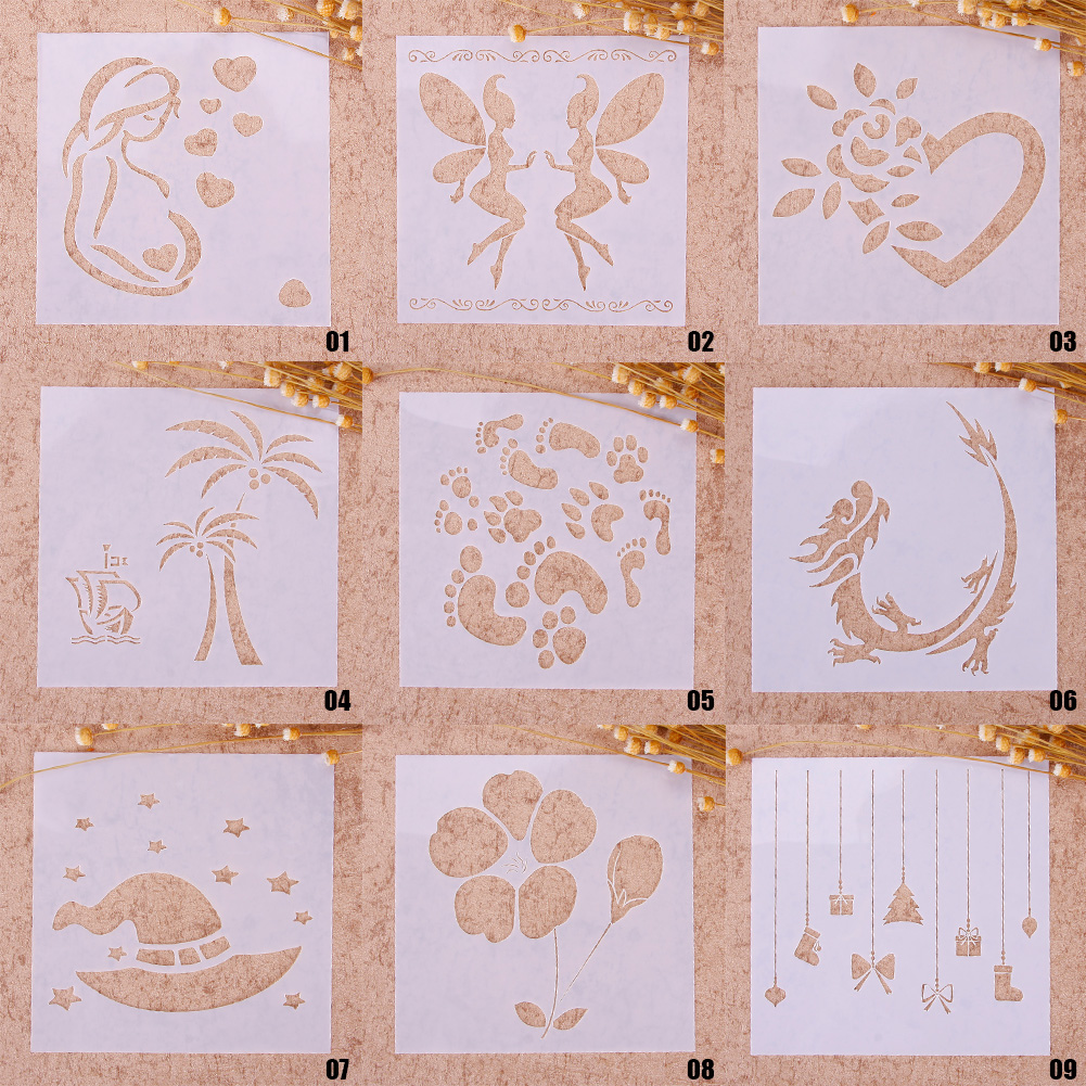 Reusable Butterfly Stencil Airbrush Painting Art DIY Scrapbooking Album Craft CA