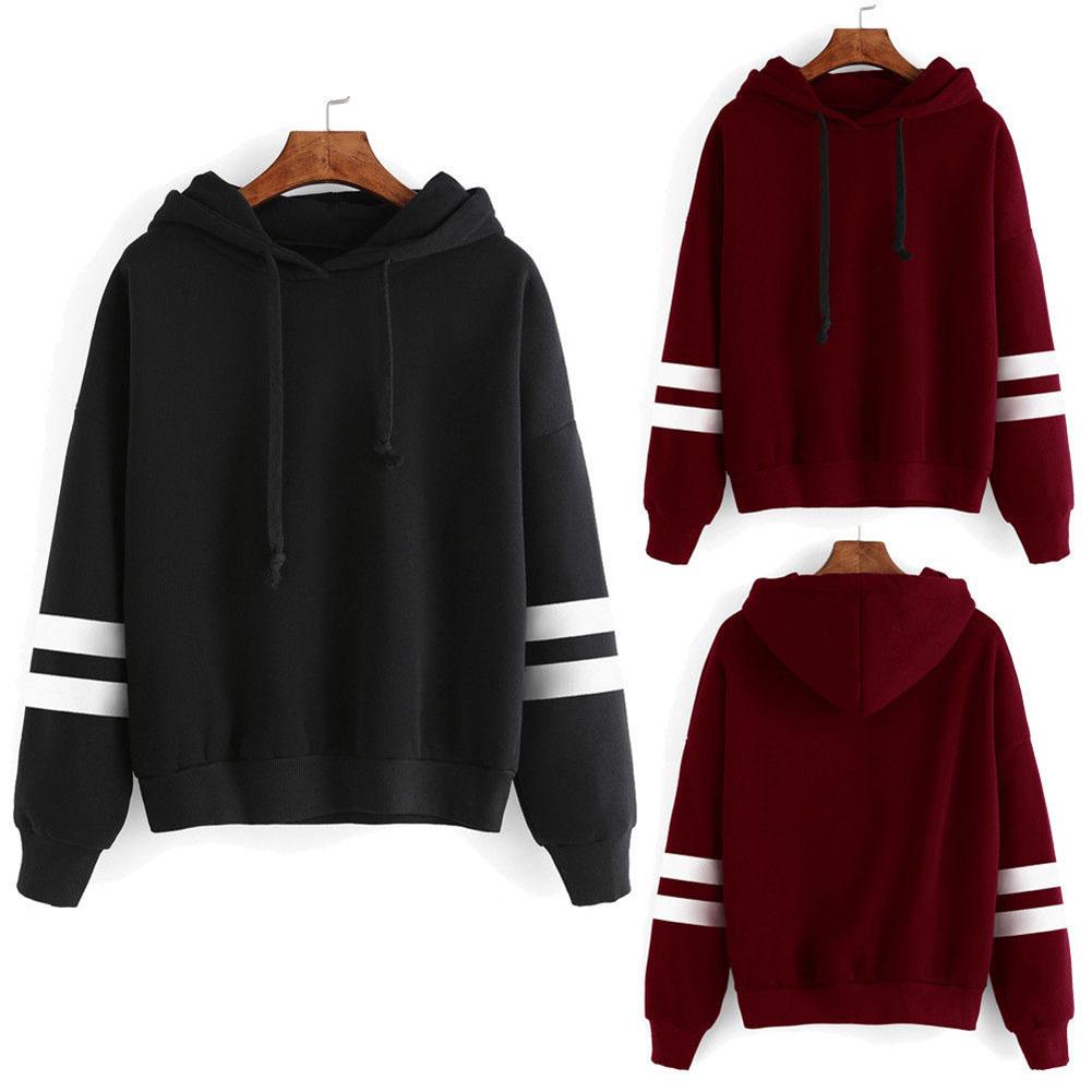 Hoodie Sweater Women Jumper Pullover Tops Hooded Sweatshirt Coat New Long Sleeve