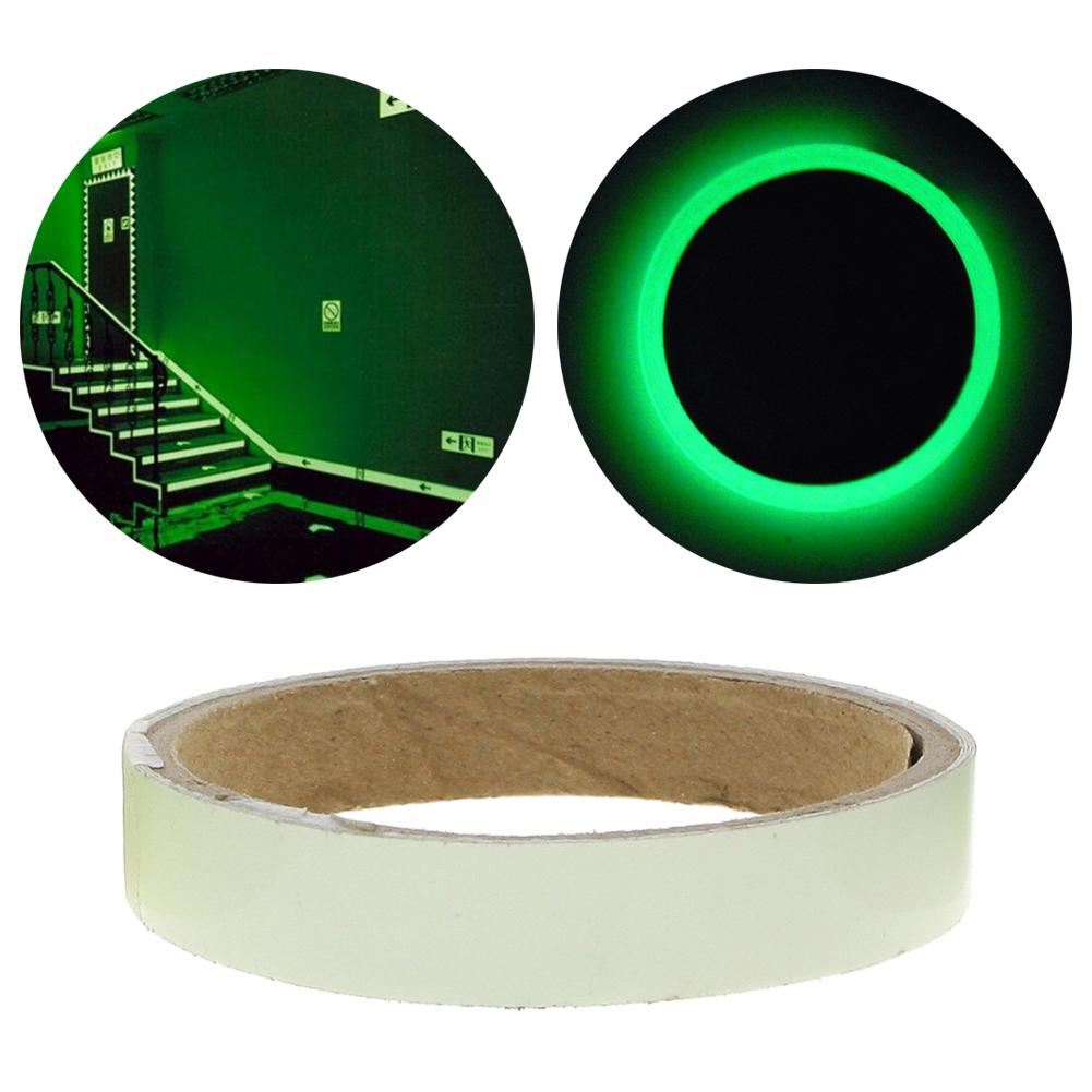 1.5/2/3/4/5cm*1m Luminous Fluorescent Night Self-adhesive Glow In The Dark Sticker Tape