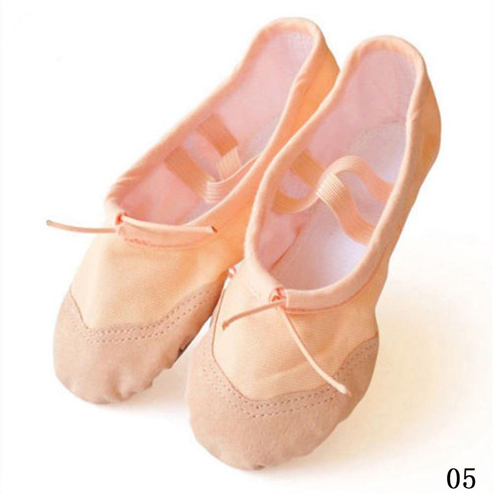 Adult Kid Child Ballet Canvas Dance Shoes Soft Pointe Gymnastics Dance Slippers