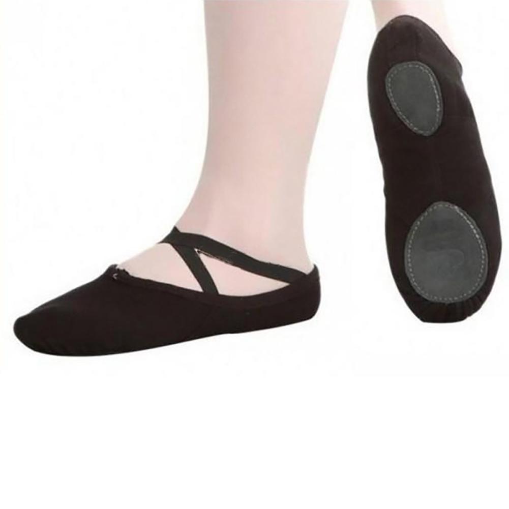 Adult Child Canvas Soft Ballet Dance Shoes Slippers Pointe Gymnastics Shoes