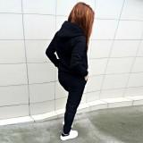 Fashion Women Tracksuit Coat+Pants Casual Sport Suit Letter Print Hoodie Sweatshirt 2pcs Set