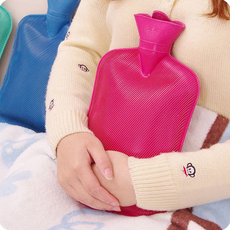 Four Size Thick Rubber Hot Water Bottle Bag Warm Relaxing Heat Cold Therapy