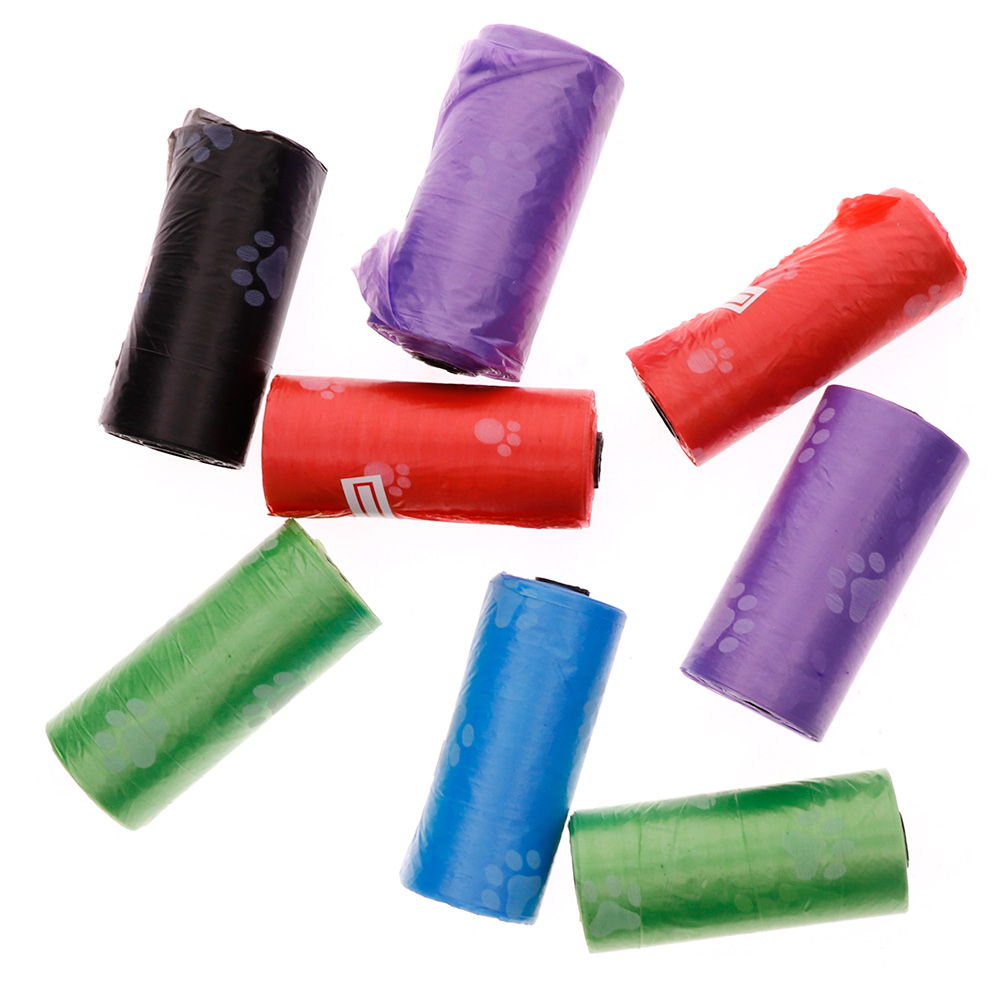 1pcs Roll Pet Dog Garbage Clean-up Bag Pick Up Waste Poop Bag Home Supply