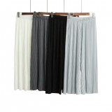 Fashion Korean Pleated Loose Wide Leg Pants High Waist Pleated Loose Women's Casual Pants