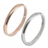 Luxsury Silver Rose Gold Plated Titanium Steel Wedding Engagement Band Ring Women's Men's Jewelry Gift