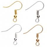 925 Sterling Silver DIY Earring Hooks Ball Jewelry Accessory Ear Wire Women Gifts